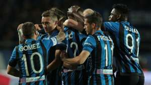 Atalanta celebrating Fiorentina Coppa Italia