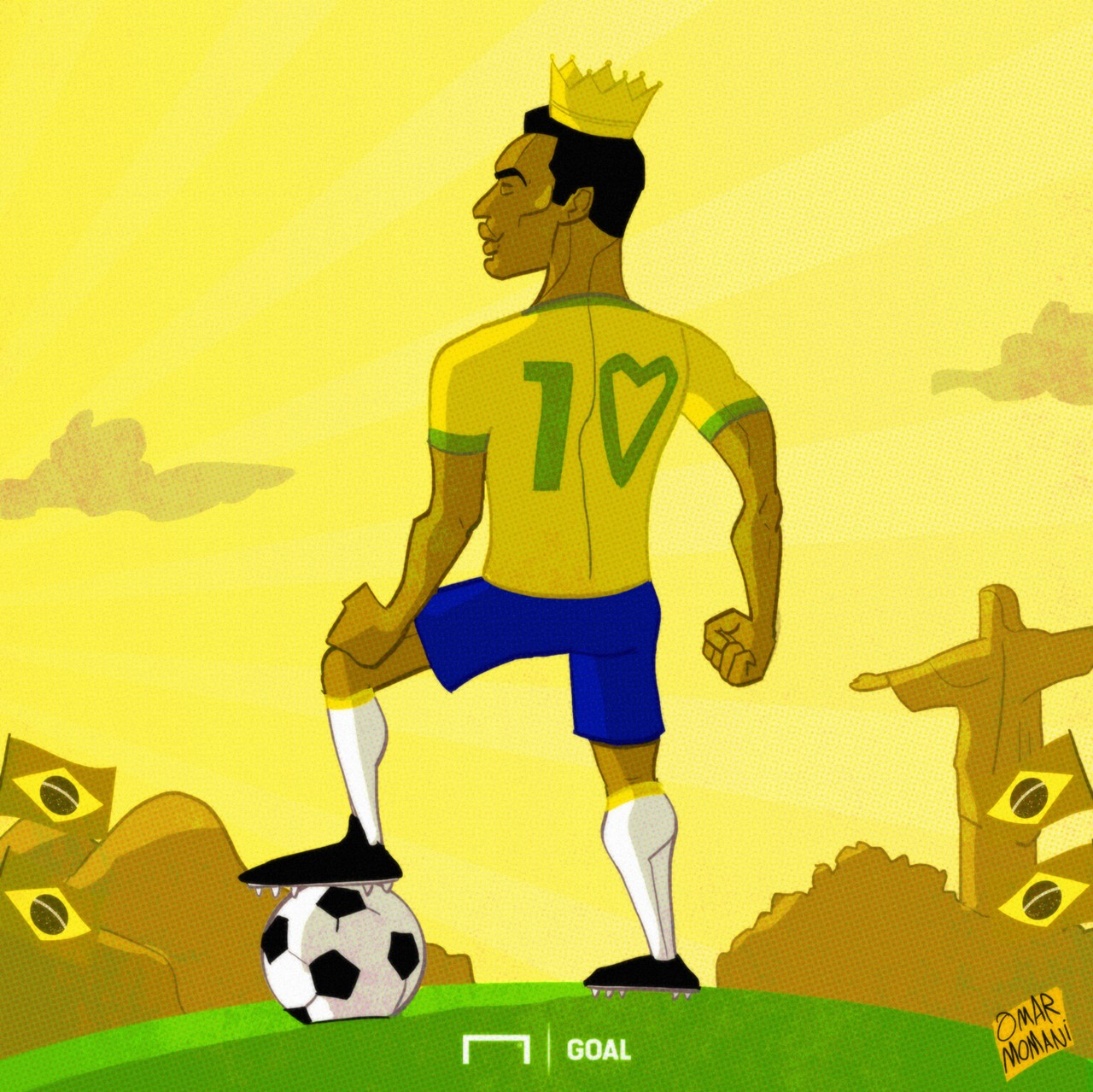 CARTOON Get well soon, Pele