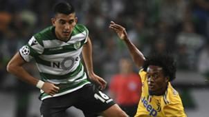 Rodrigo Battaglia Juan Cuadrado Sporting Juventus UCL
