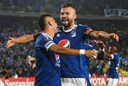 Ayron Del Valle & Andrés Cadavid Millonarios - deportivo Lara Copa Libertadores 2018