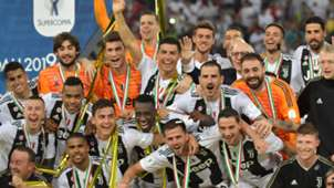 Juventus celebrating Supercoppa