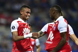 William Tesillo Santa Fe gol a Emelec