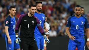 Hugo Lloris Dimitri Payet Olivier Giroud France Albania UEFA Euro 2016 15062016