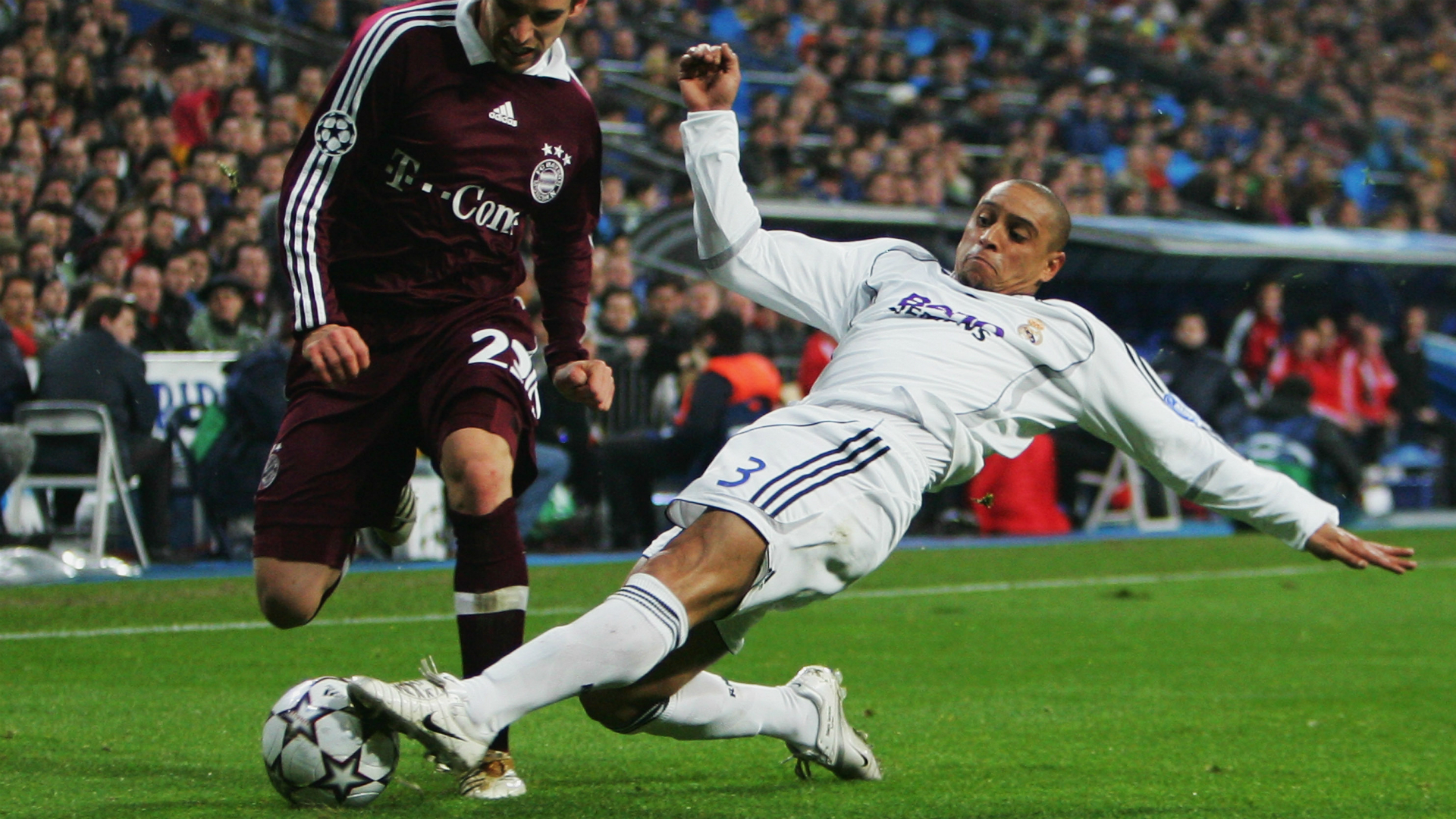 Roberto Carlos Real Madrid v Bayern Munich Champions League 20022007