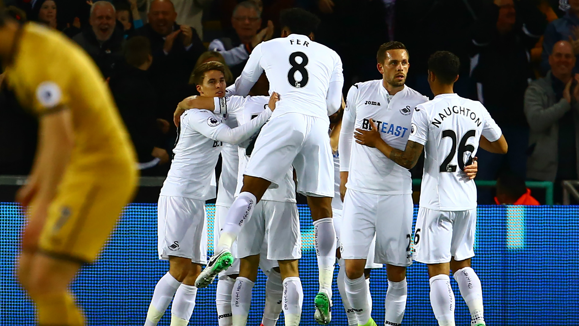 Swansea City celebrate