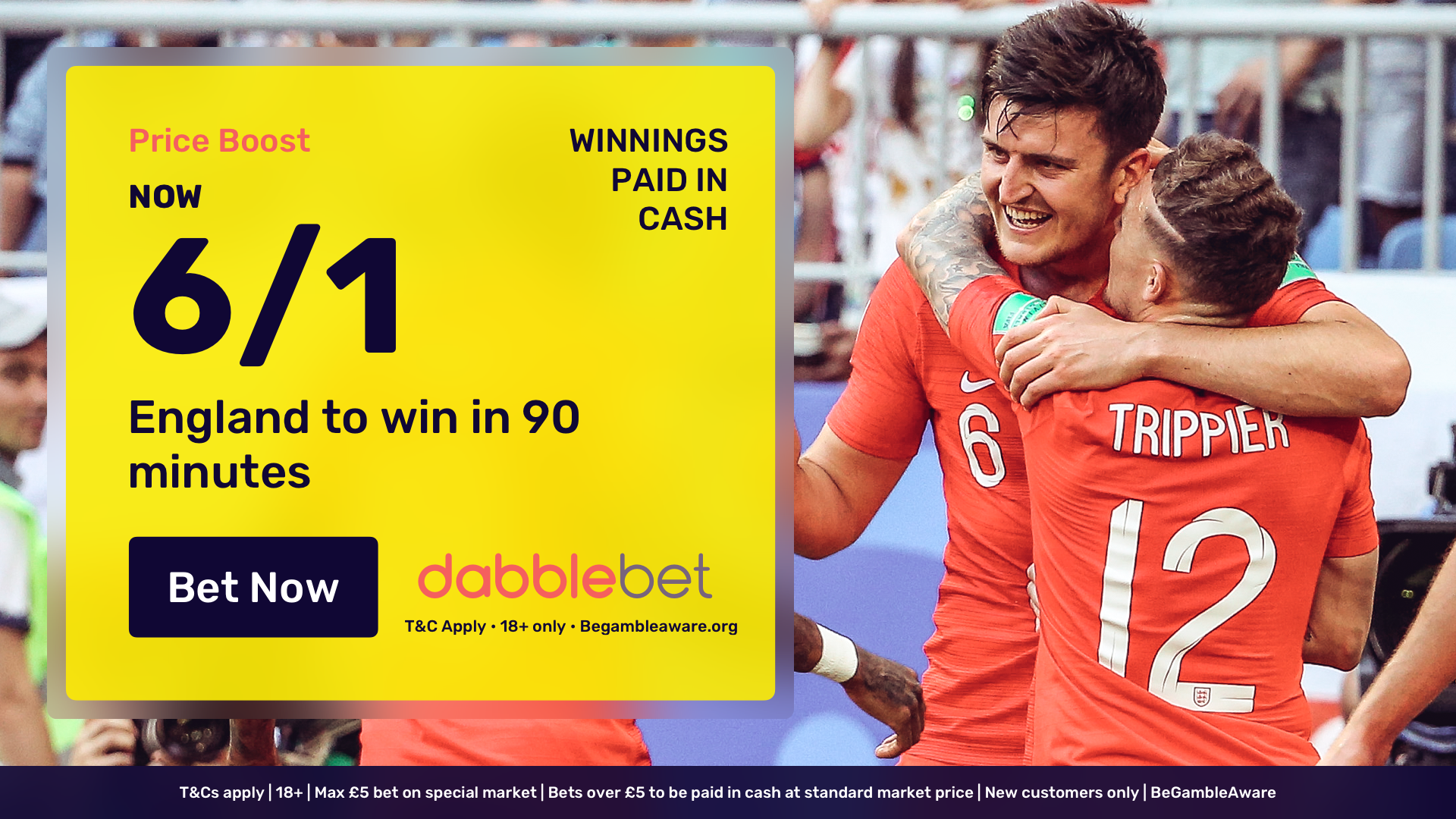 England Croatia dabblebet offer in article