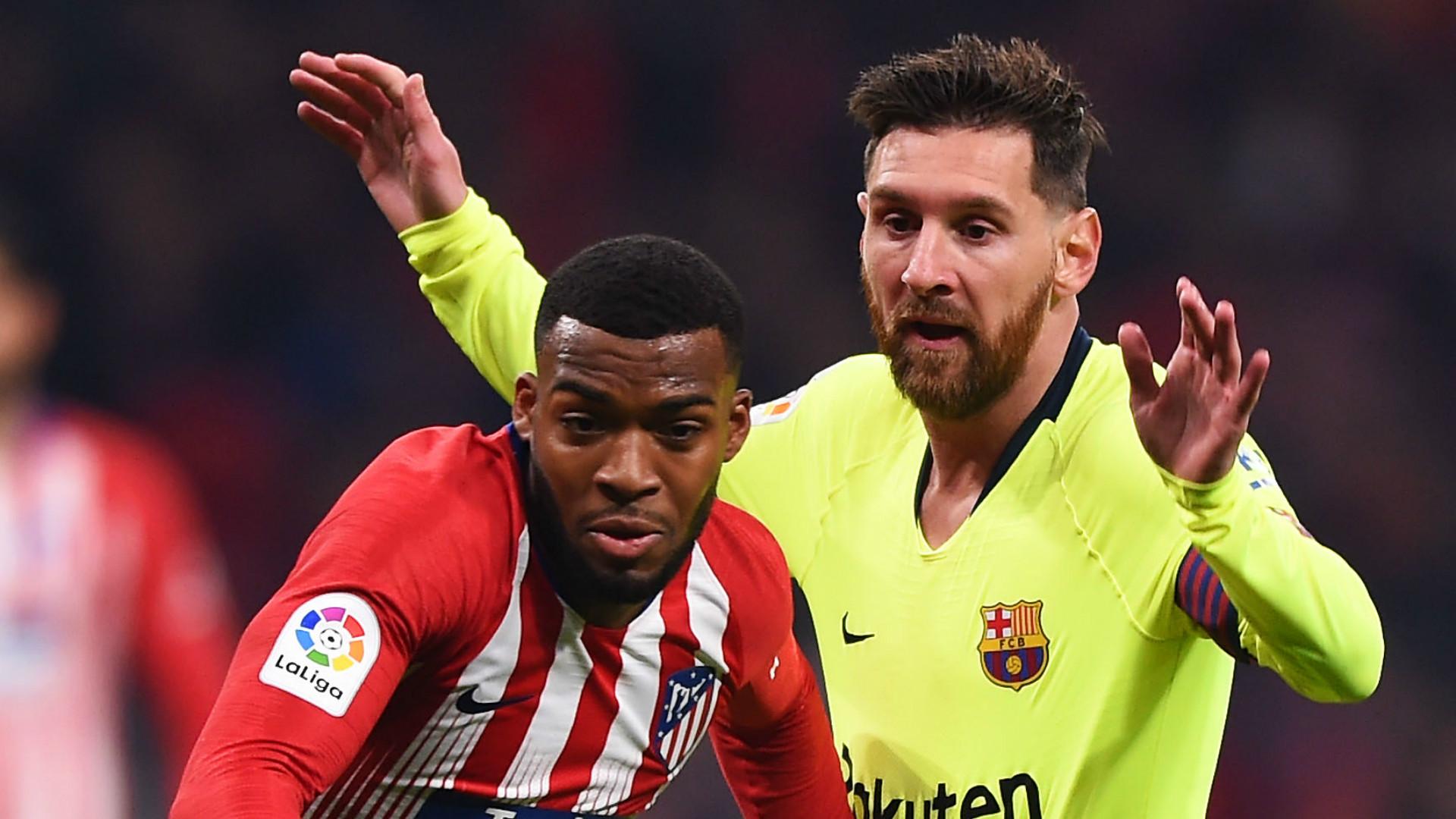Thomas Lemar Lionel Messi Atletico Madrid Barcelona 2018-19
