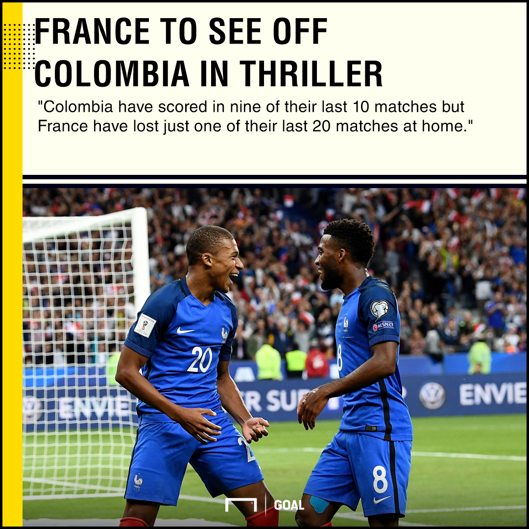 France Colombia graphic