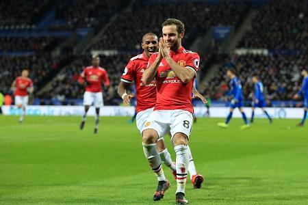 Juan Mata Manchester United Leicester City