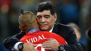 Vidal, Maradona. Final Copa Confederaciones 02072017