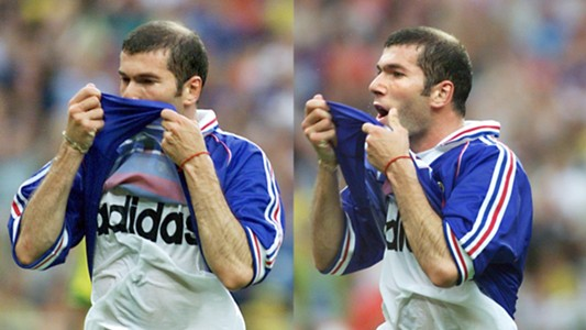 Zinedine Zidane France Brazil 1998 World Cup