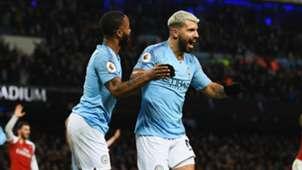 Sergio Aguero Raheem Sterling Manchester City vs Arsenal Premier League 2018-19