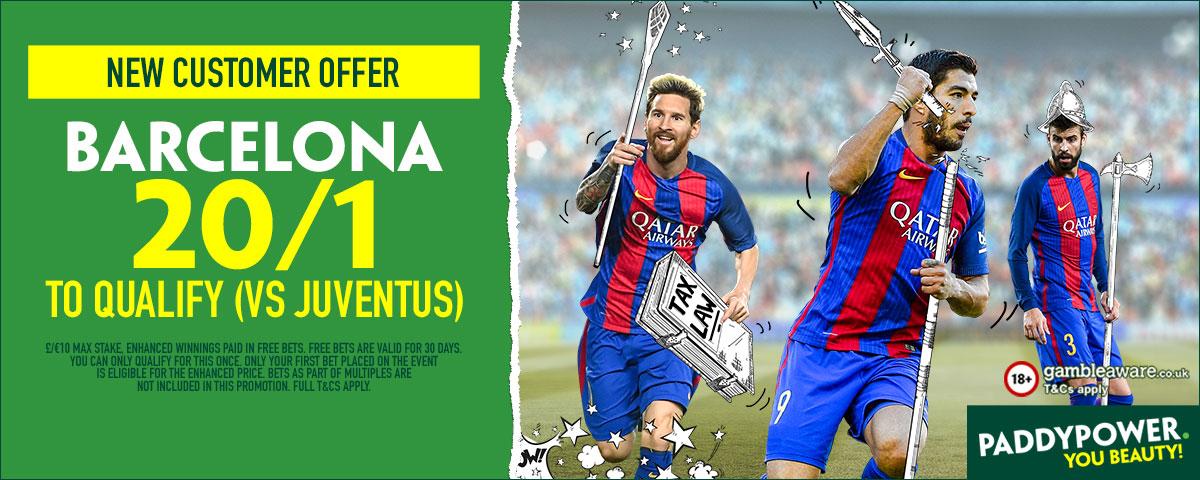 GFX Barcelona Juventus enhanced betting