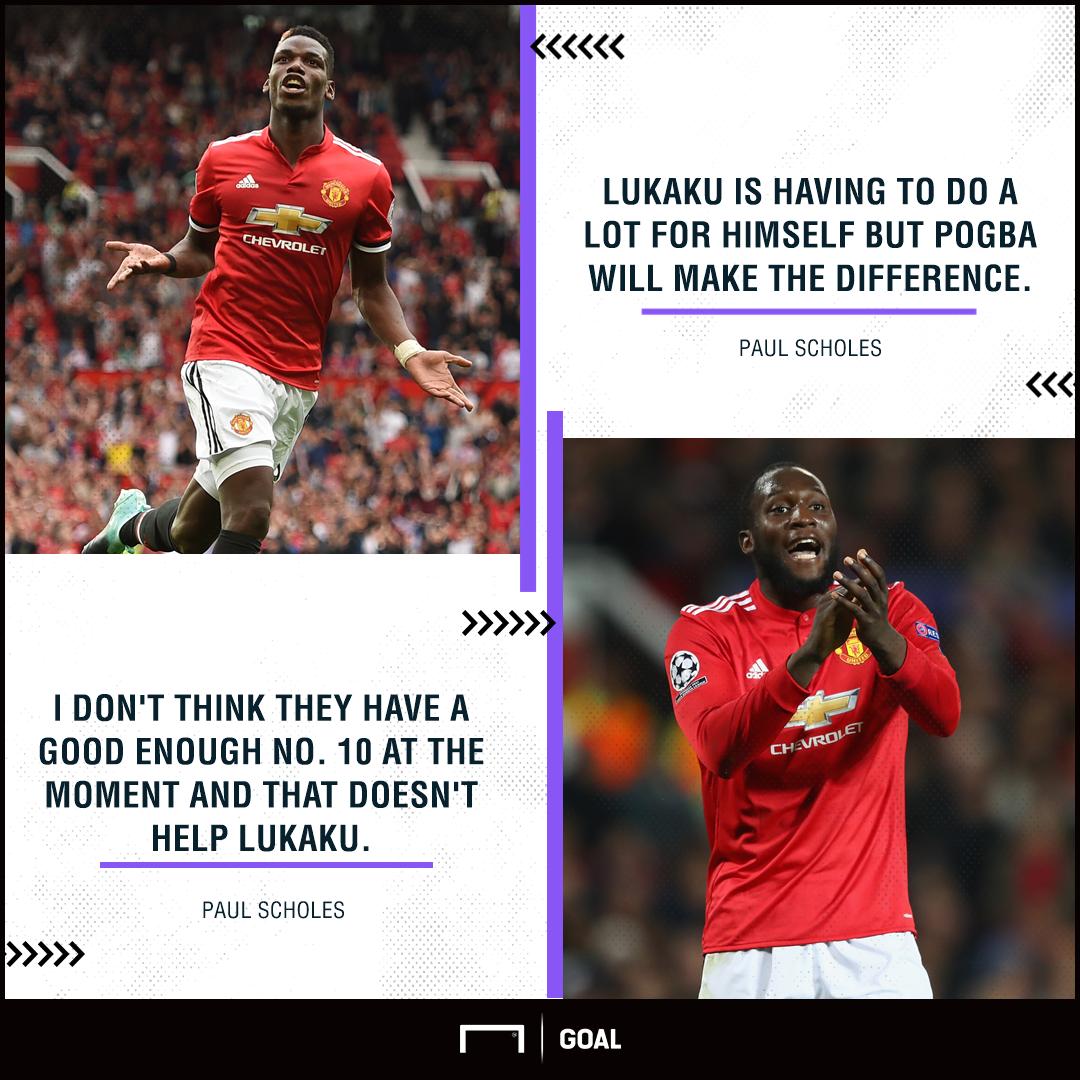 Paul Scholes Paul Pogba Romelu Lukaku Manchester United