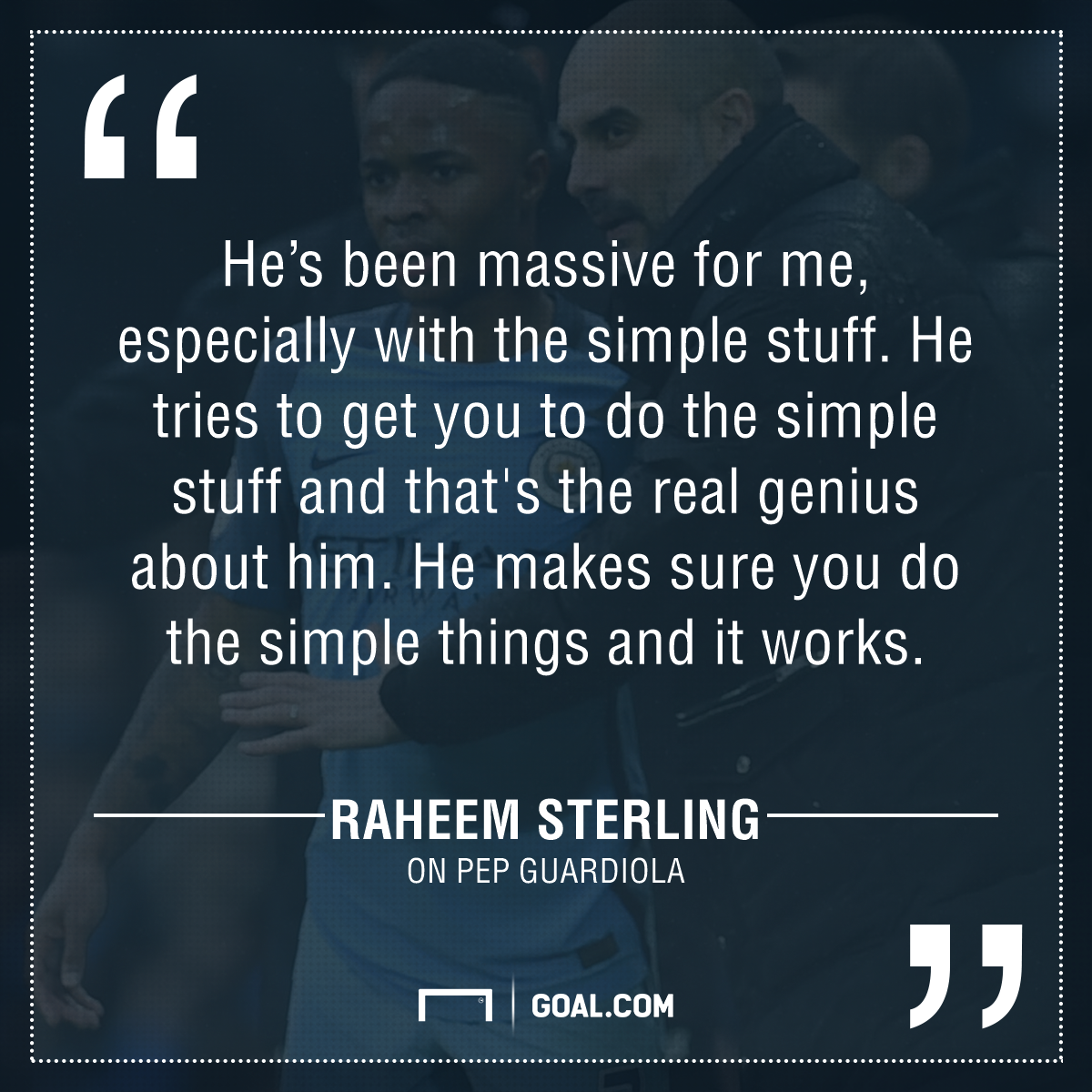 Sterling quote Guardiola