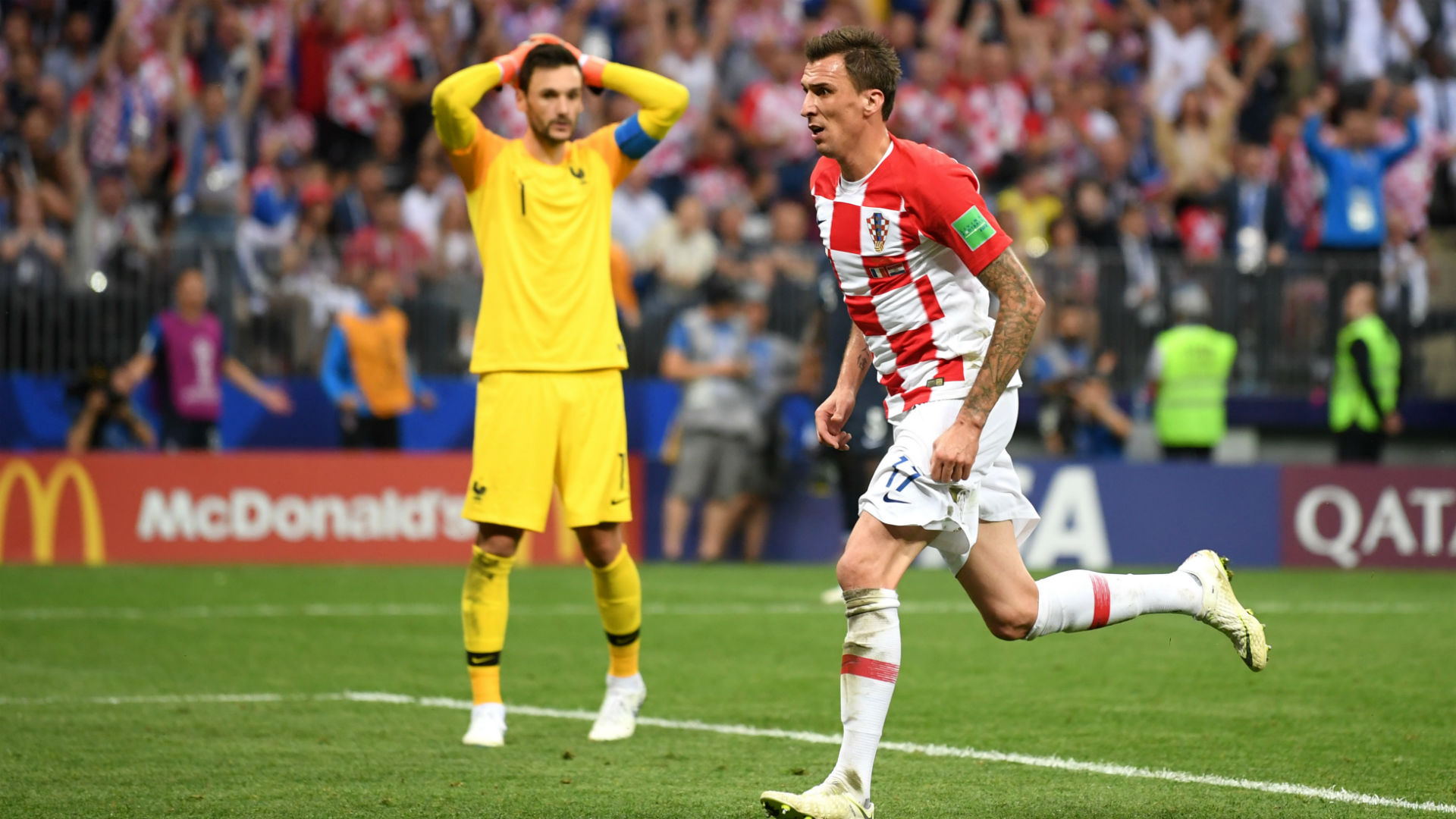 france croatia - mario mandzukic hugo lloris - world cup final - 15072018
