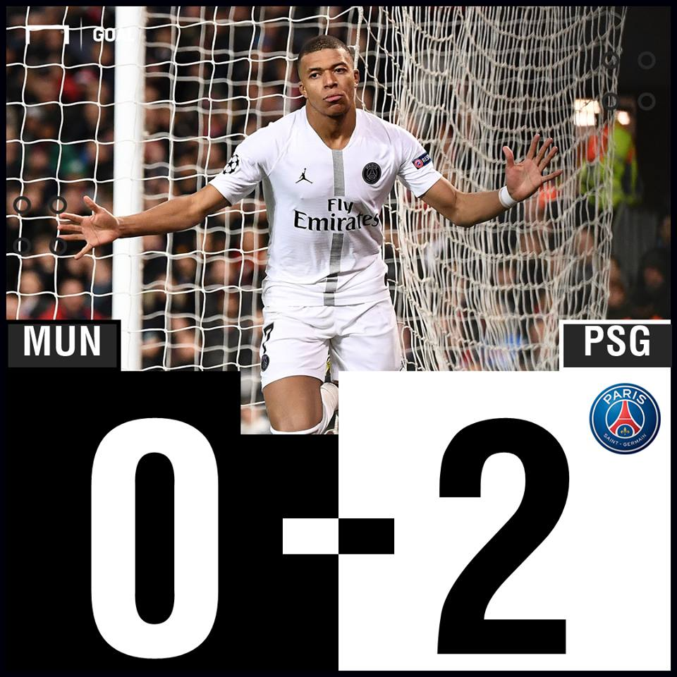 Manchester Untied vs PSG Result