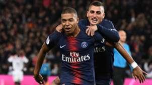 Paris Saint-Germain PSG Mbappe Verratti 07102018