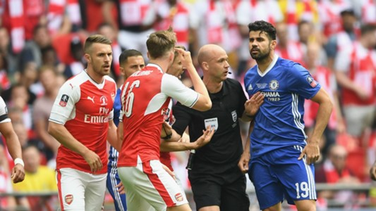 Rob Holding Diego Costa Arsenal Chelsea FA Cup