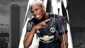 Paul Pogba Man Utd away shirt 17-18