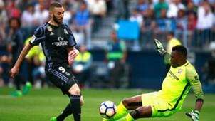 Karim Benzema Idriss Carlos Kameni Malaga Real Madrid La Liga 05212017