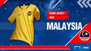 Malaysia 2018 Home Jersey Kit