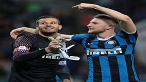 Milan Skriniar Samir Handanovic Inter Empoli