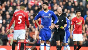 Marcos Rojo - Diego Costa   Manchester United - Chelsea 16042017