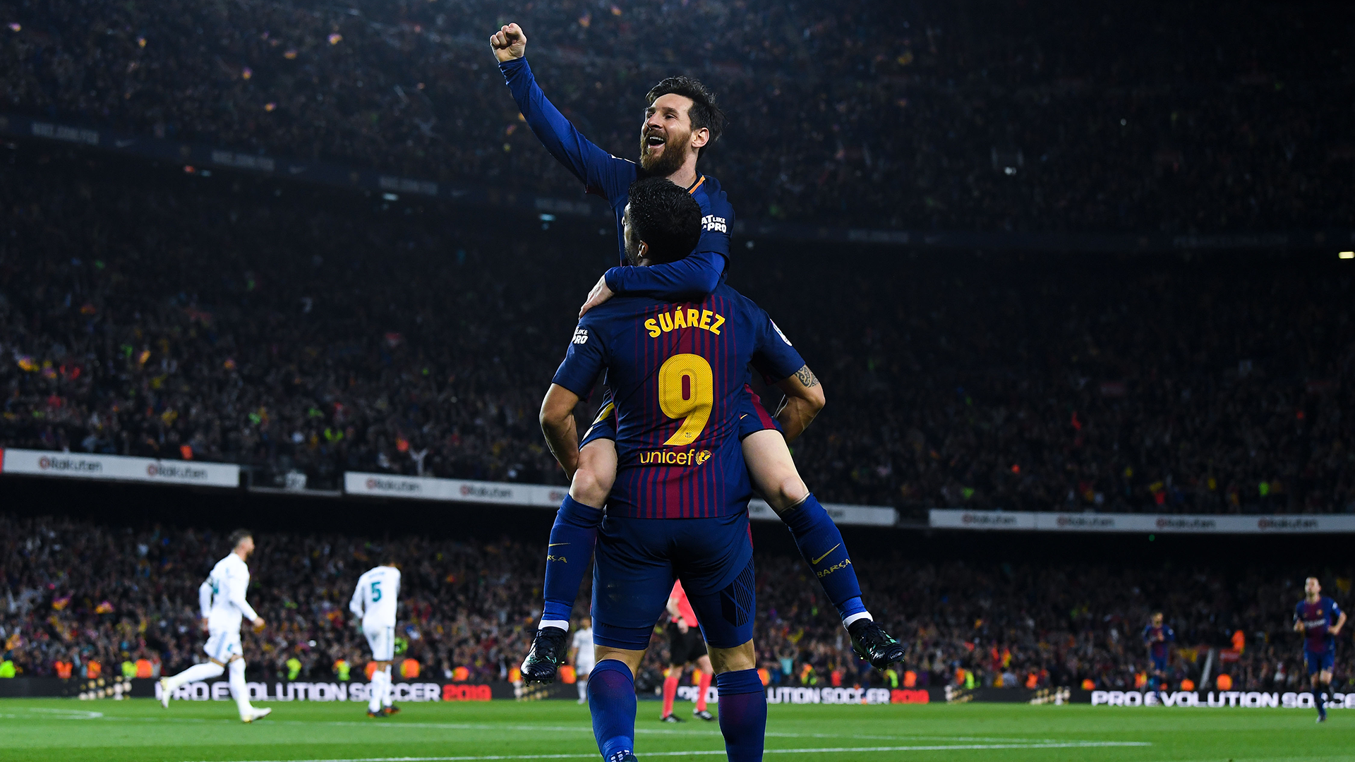 Lionel Messi Luis Suarez Barcelona Real Madrid 2017-18