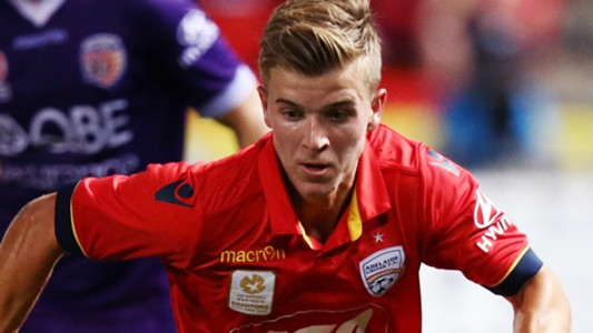 Riley McGree Adelaide United v Perth Glory A-League 10022017