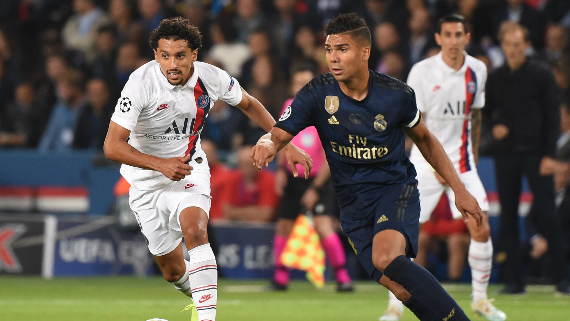 Marquinhos Casemiro Real Madrid PSG Champions League 2019