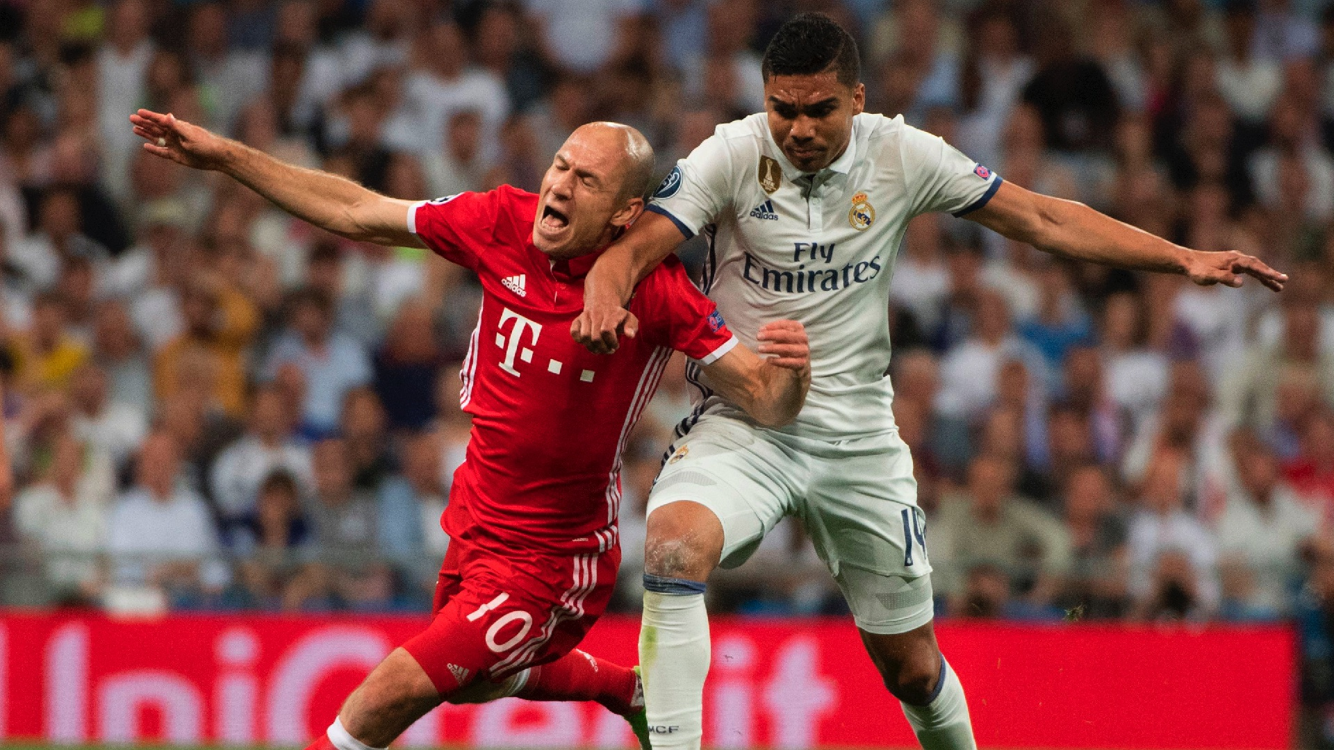 Casemiro Arjen Robben Real Madrid Bayern Munich UCL 18042017