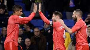 Varane Sergio Ramos Benzema Espanyol Real Madrid LaLiga
