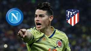 James Rodríguez entre Napoli y Atlético