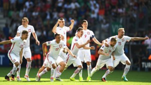 Poland celebrating