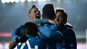 Napoli celebrating Atalanta Napoli Serie A