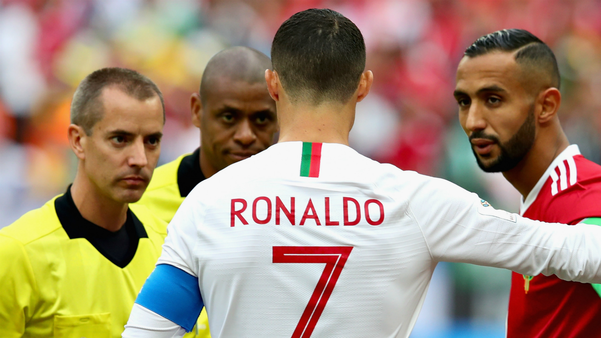 Cristiano Ronaldo Mark Geiger Portugal Morocco World Cup