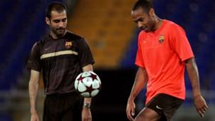 Thierry Henry Pep Guardiola Barcelona 26052009