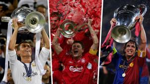 Ronaldo Gerrard Puyol Champions League split