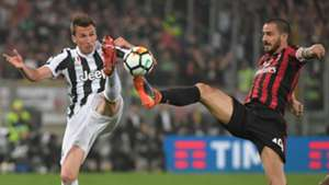 Mario Mandzukic Leonardo Bonucci Juventus Milan Coppa Italia