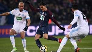 Aymen Abdennour Adil rami Edinson Cavani PSG Marseille Coupe de France 28022018