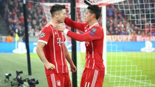 James y Lewandowski Bayern