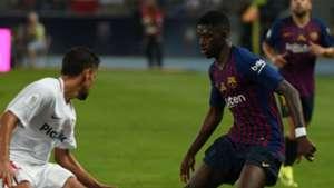 Ousmane Dembele Jesus Navas Barcelona Sevilla Spanish Super Cup 2018