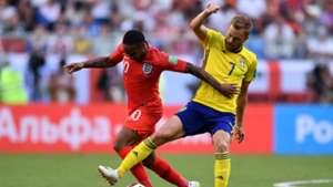 Raheem Sterling Sebastian Larsson Sweden England World Cup 2018 070718