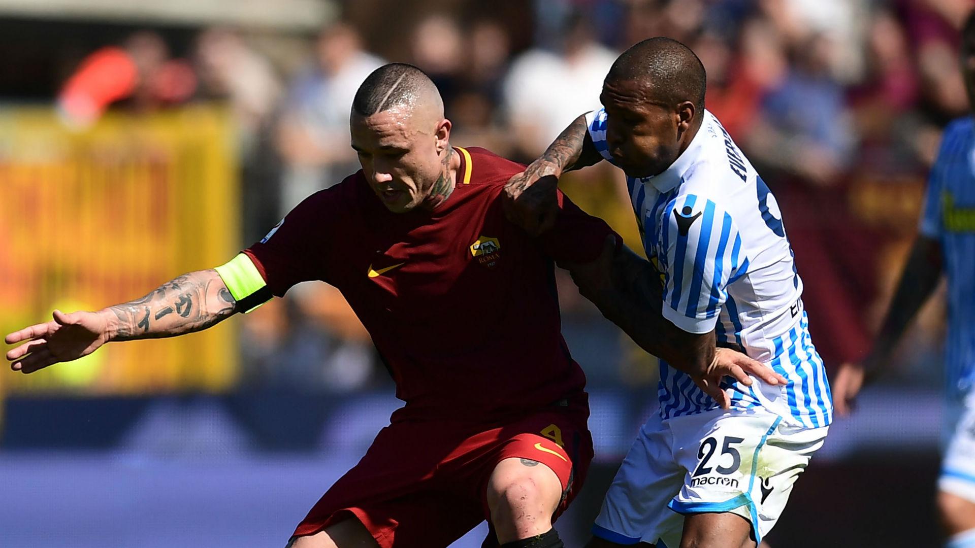 Radja Nainggolan Everton Luis Roma SPAL Serie A 2018