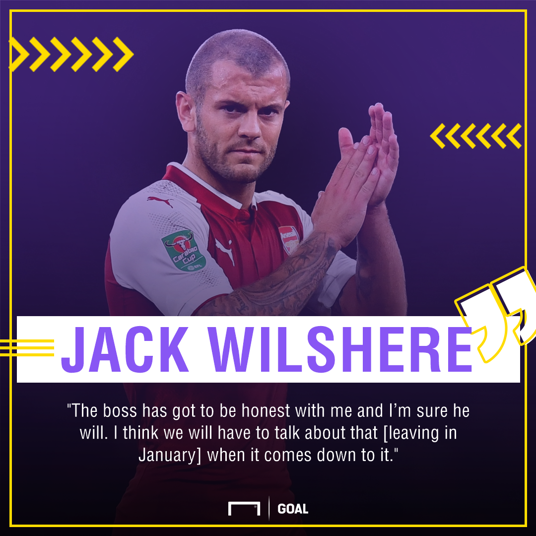 Jack Wilshere Arsenal leave January
