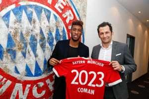 Kingsley Coman Hasan Salihamidzic Bayern Munchen