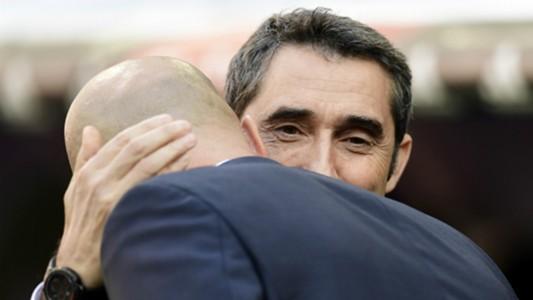 Ernesto Valverde Zinedine Zidane Real Madrid Barcelona Clasico