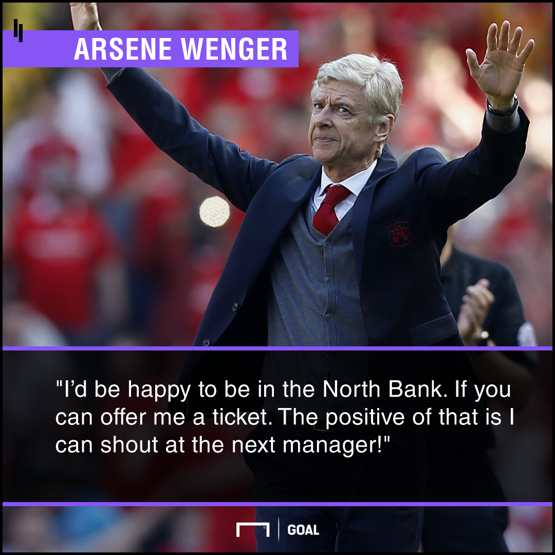 Arsene Wenger shout at next manager