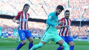 Filipe Luis Gerard Piqué Barcelona Atlético Madrid